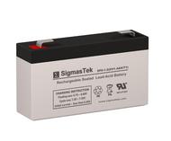 SigmasTek SP6-1.2 Replacement 6V 1.4AH SLA Battery