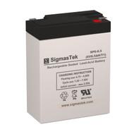 SigmasTek SP6-8.5 Replacement 6V 8.5AH SLA Battery