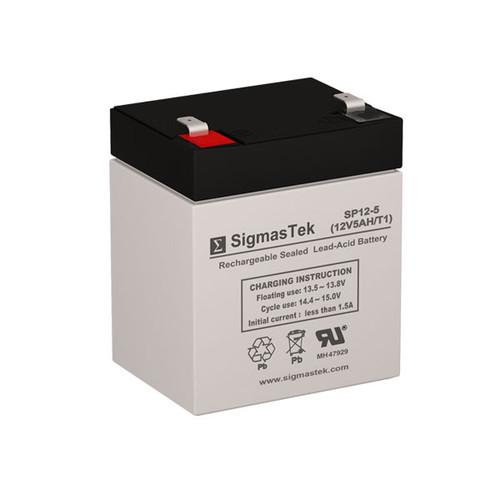SigmasTek SP12-5 Replacement 12V 5AH SLA Battery