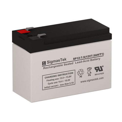 SigmasTek SP12-7.5 Replacement 12V 7AH SLA Battery