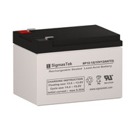SigmasTek SP12-12 Replacement 12V 12AH SLA Battery