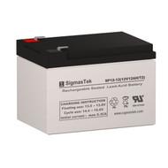 SigmasTek SP12-12 Replacement 12V 12AH SLA Battery