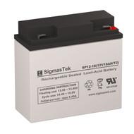 SigmasTek SP12-18 T2 Replacement 12V 18AH SLA Battery