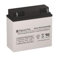 SigmasTek SP12-18 NB Replacement 12V 18AH SLA Battery