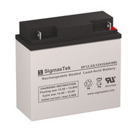 SigmasTek SP12-22 Replacement 12V 22AH SLA Battery