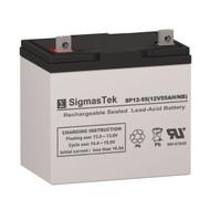 SigmasTek SP12-55 NB Replacement 12V 55AH SLA Battery
