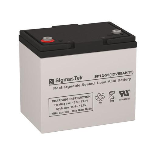 SigmasTek SP12-55 IT Replacement 12V 55AH SLA Battery
