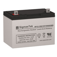 SigmasTek SP12-100 NB Replacement 12V 100AH SLA Battery