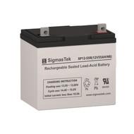 SigmasTek SP12-55R NB Replacement 12V 55AH SLA Battery