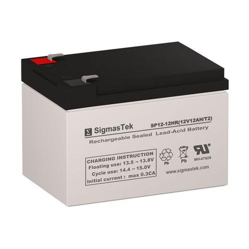 SigmasTek SP12-12HR Replacement 12V 12AH SLA Battery