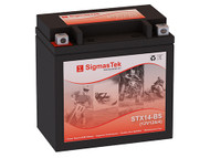 SigmasTek STX14-BS motorcycle battery