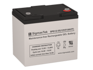 SigmasTek SPG12-55 IT 12V 51AH GEL Battery Replacement