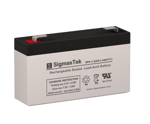 6 Volt 1.2 Amp Sealed Lead Acid Battery