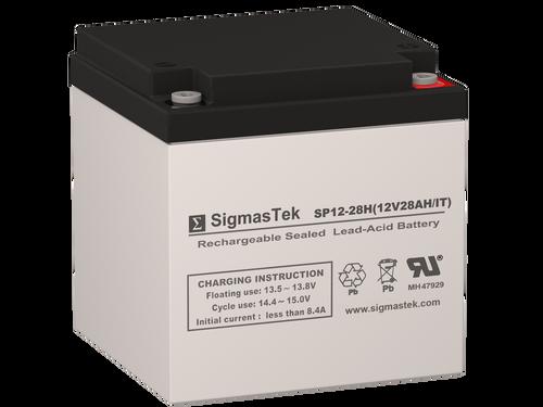 12 Volt 28 Amp IT Sealed Lead Acid Battery