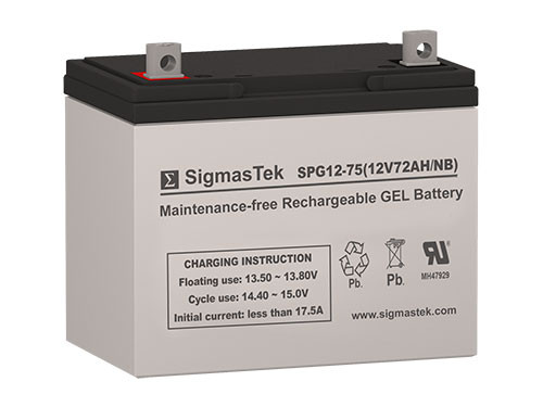 12 Volt 75 Amp Sealed Lead Acid Battery