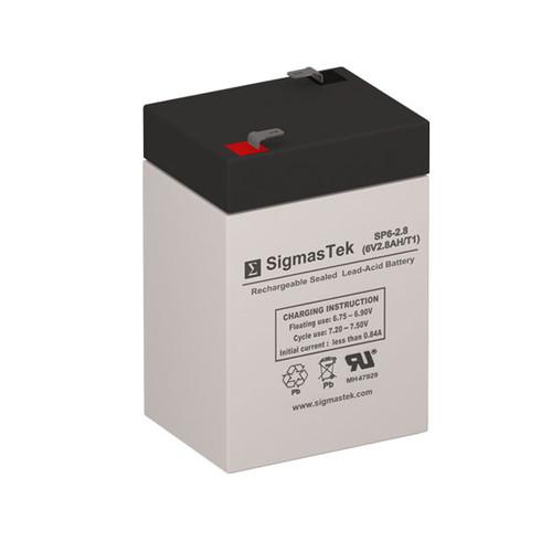 6V 2.8AH SLA Battery