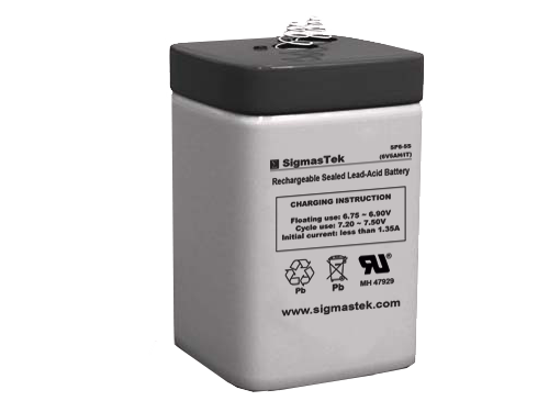 6 Volt 5 Amp SP Sealed Lead Acid Battery