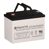 Exell Battery EB12350 IT (Group U1) Replacement 12V 35AH SLA Battery