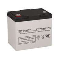 Exell Battery EB12550 IT (Group 22NF) Replacement 12V 55AH SLA Battery