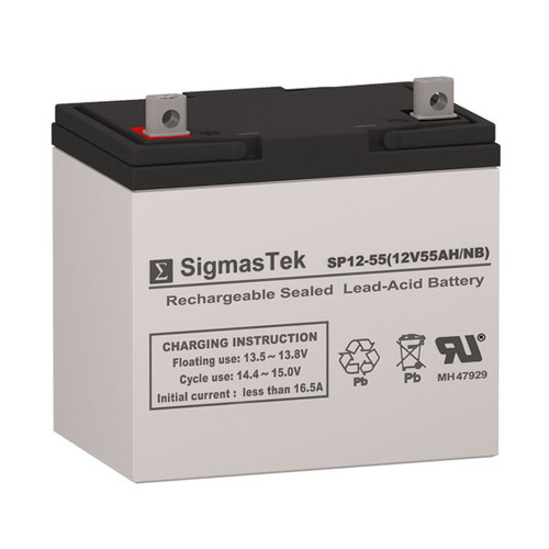 AJC AGM - VRLA Solar AGM SLA Battery 12V 55AmpH (Replacement)