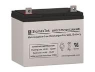 SCADA SP12-75 Solar AGM SLA Battery 12V 75AmpH (Replacement)