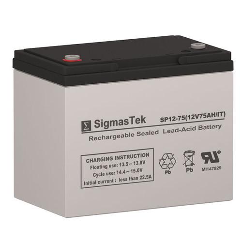 AJC AGM VRLA Solar AGM SLA Battery 12V 75AmpH (Replacement)