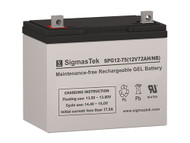 Universal Power UPG GEL 12V 75AH Solar AGM SLA Battery (Replacement)