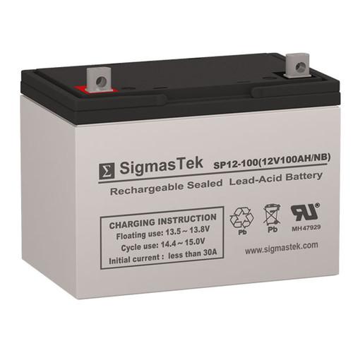 AC Solar Home System SHS12100 Solar AGM SLA Battery 12V 100AmpH (Replacement)