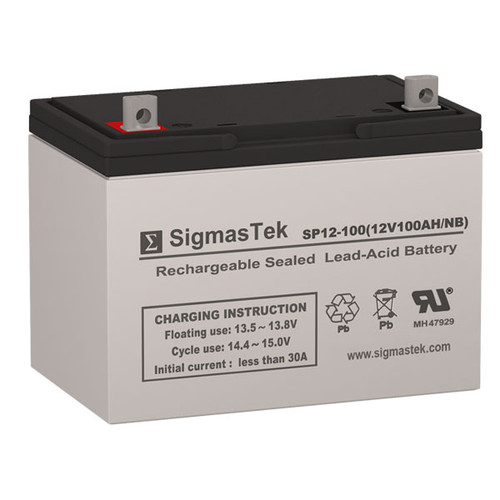 AC Solar Home System SHS12100 Solar AGM SLA Battery 12V 100AmpH (Replacement)