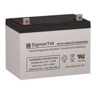 Ecopro Portable Solar Generator Solar AGM SLA Battery 12V 100AmpH (Replacement)