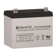 Enduring 6GFM75 Replacement 12V 75AH SLA Battery
