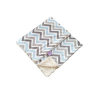Trendy Blue Chevron Blanket