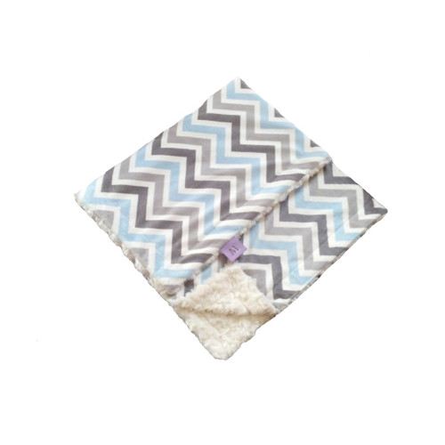 Trendy Blue Chevron Blanket