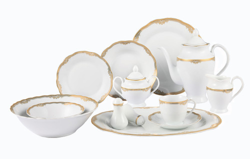 Lorenzo Catherine 57 Pc. Dinnerware Set