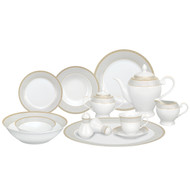Lorenzo Alina Gold 57 Pc. Dinnerware Set