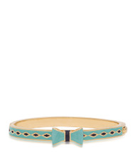 Lily Nily Bow Bangle - Green & Black