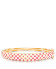 Lily Nily Mosaic Bangle - Pink & White