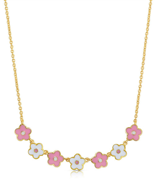Lily Nily Flower Links Necklace