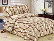 French Soft Brown Swirl Linen Set