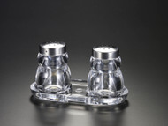 Acrylic Salt & Pepper Set w/ Base