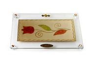 Lily Art Shabbat Tray- Red Flower (LLA-815-16)