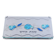 Lily Art Challah Tray w/ Laser Cut Blue Pomegranate Base (LLA-900815-45)