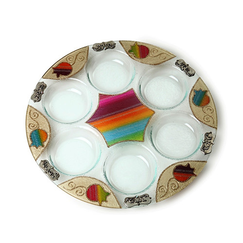 Lily Art Seder Plate- Colored Pomegranate (LLA-501666-34)