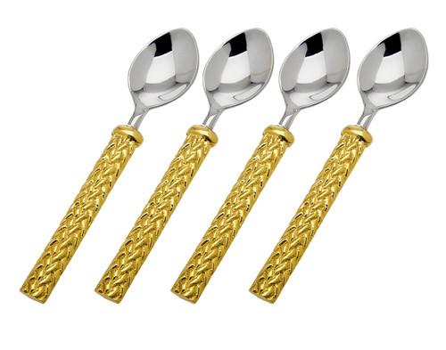 Godinger Herringbone Dessert Spoons (Set of 4) (70245)