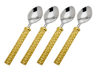 Godinger Herringbone Dessert Spoons (Set of 4) (70245)