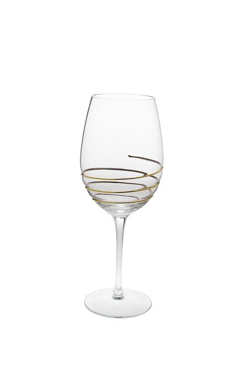 Swirl Gold Water Glasses (Set of 6) (CSWG389)