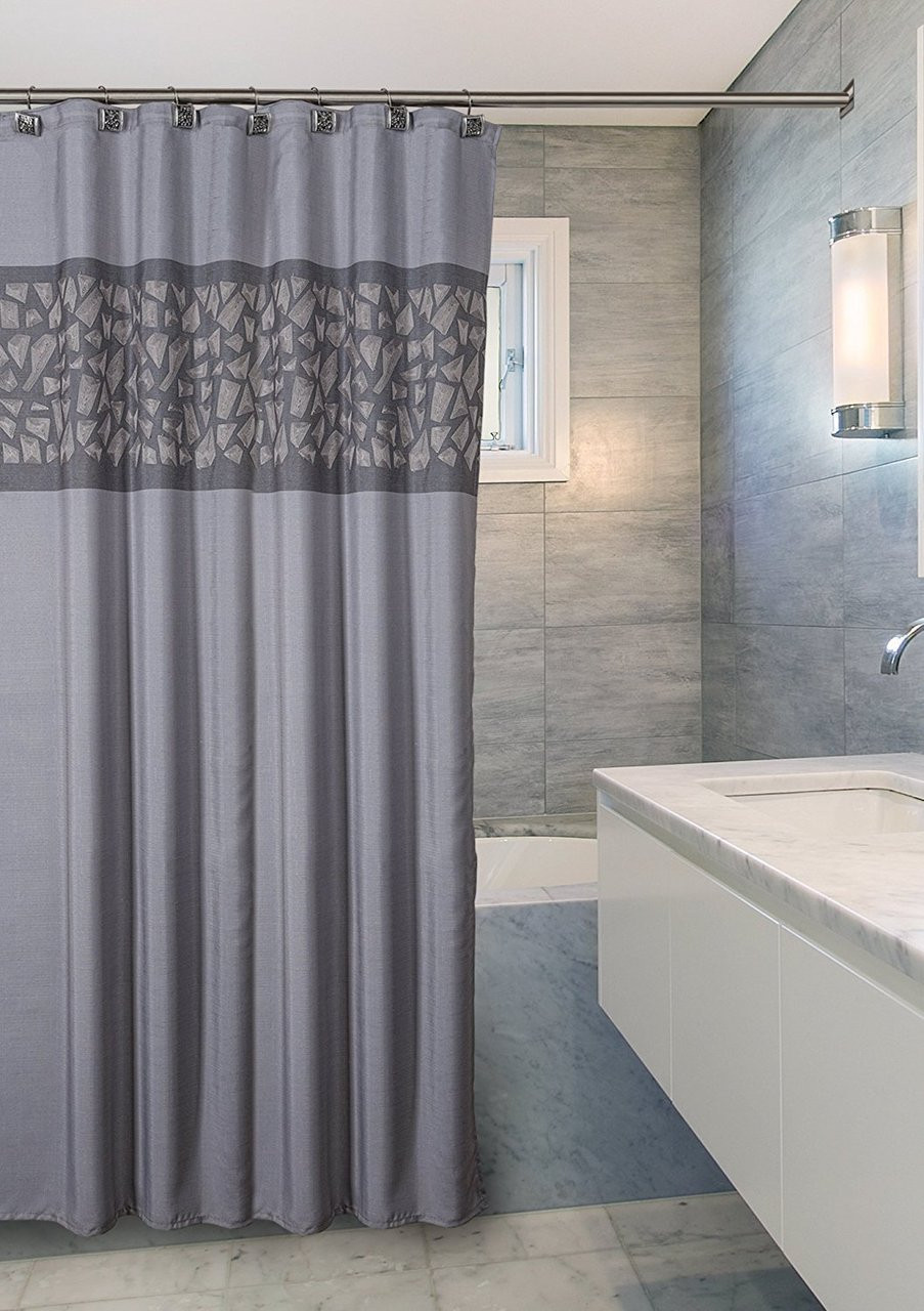 Brushed Nickel Shower Curtain CBN 44322