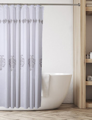 Vintage White Shower Curtain (CVW-44321)