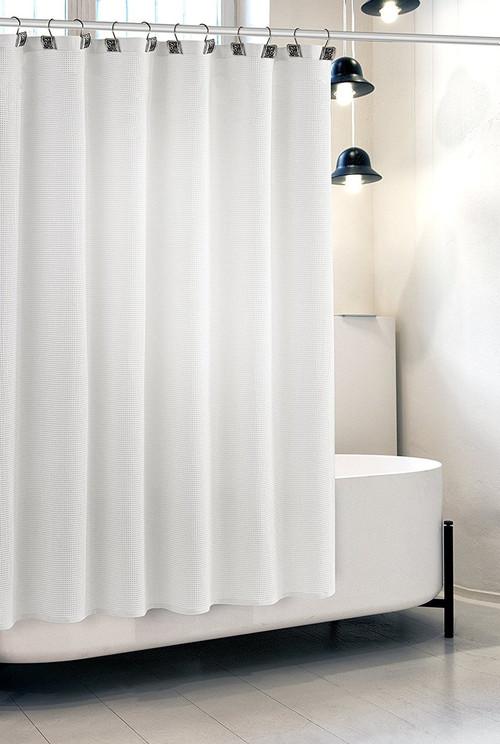 White Waffle Shower Curtain (CWW-44326)