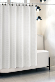 White Waffle Shower Curtain (CWW-44326)